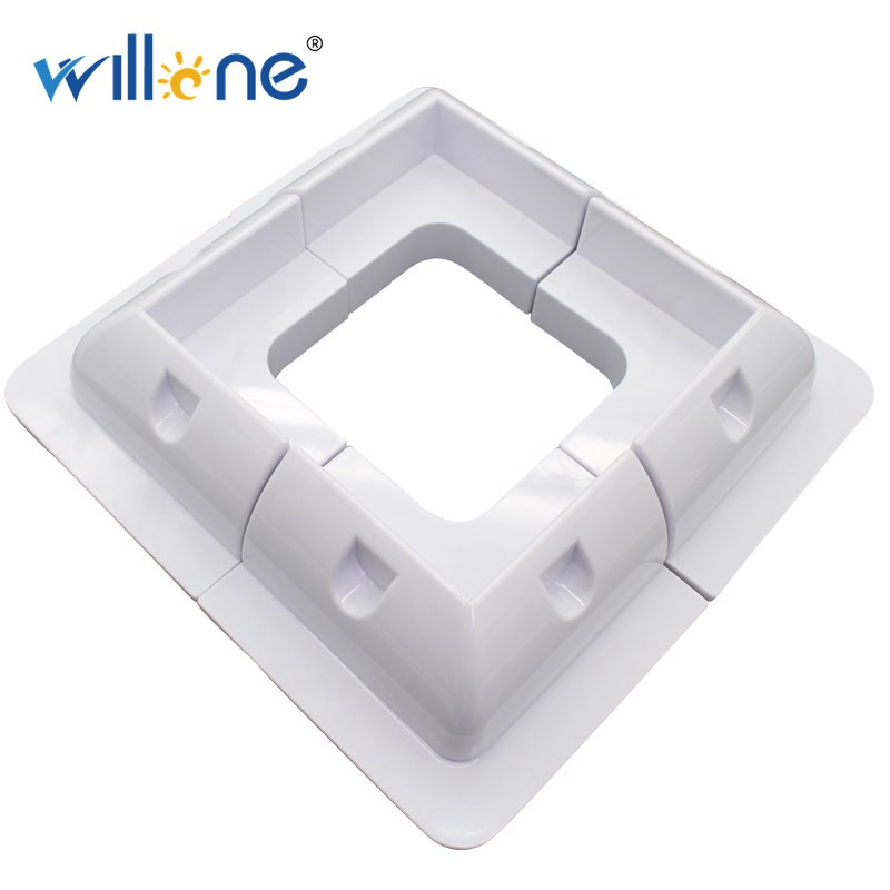 Willone 4pcs  ABS Solar Panel Mounting Brackets With Cable Gland & Side Bracket