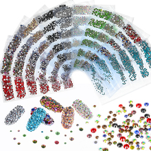 1300pcs Glitter Rhinestones Crystal AB Non Hotfix Flatback Nail Rhinestones Strass Gem Nail Art Decoration mix sizes opal colors crystal glass non hotfix flatback rhinestones strass nail art nails accessoires nail art decoration