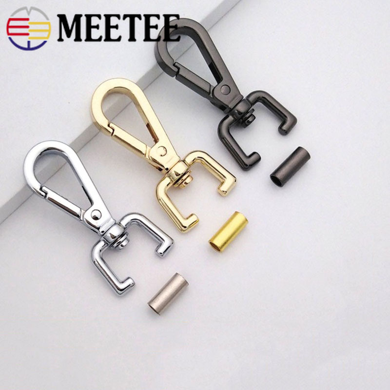 4pcs Metal Carabiner Ring Key Chain Keychain Clips Hook Outdoor Buckle Bag Snap