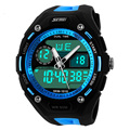 2016 Men Sports Watches Sport Watch 5ATM Waterproof Date/Week Alam Stop Watch Display LED Digital Swimming Divers Watches