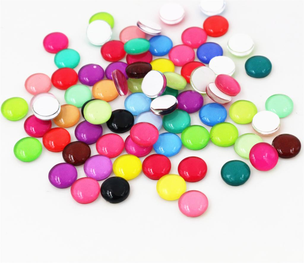 New Fashion Hot Sale 50pcs 8mm 10mm Mixed Colors Style Handmade Photo Glass Cabochons