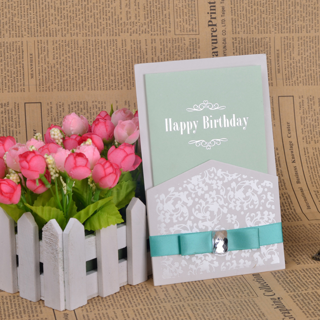 Fashion custom design happy birthday greeting card business of fashion custom design happy birthday greeting card business of diamond ribbon birthday cards gift card 5pcs colourmoves