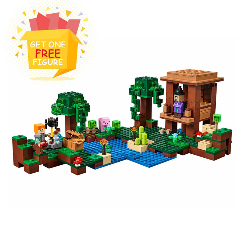 Bela Compatible Legoe Minecrafte My World Zombies Building Blocks Bricks toys for children compatible 21133 The Witch Hut model bl10470 lepin decool bela building blocks bricks action figures toys minecrafted my world model set gifts for children zombies