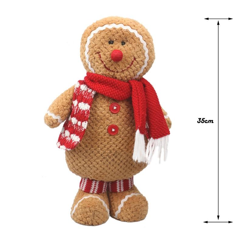 Gingerbread Man plush საშობაო საჩუქარი - პლუშები სათამაშოები - ფოტო 2