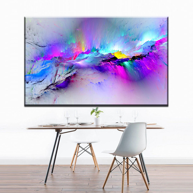 Xdr944 Home Decor Abstract Clouds Colorful Canvas Oil Painting Wall Art  Bedroom And Dinner Room Decoration