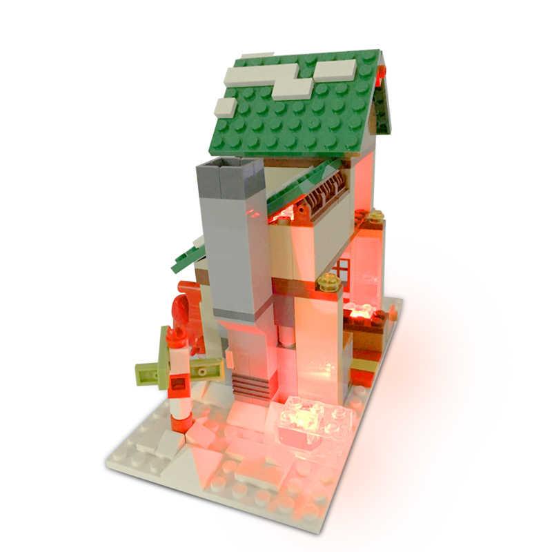 10ชิ้น2*3อิฐแสงกลุ่มอาคารเป็นกลุ่มนิทรรศการDIYเข้ากันได้ยี่ห้อสีขาวสีแดงและไฟสีฟ้าและไฟที่มีสีสัน