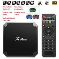 10pcs TV box X96 mini Android 7.1 Amlogic S905W 2GB 16GB 1GB 8GB 2.4GH HDMI 2.0 With ordinary remote control