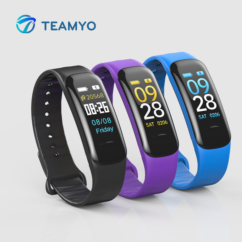 Teamyo C1 Smart Band Heart Rate Monitor Watches Blood Pressure Smart Bracelet Fitness Tracker Color LCD For Andriod IOS xiaomi