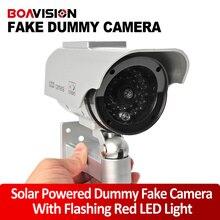 Fake Camera Solar Energy Powered Dummy Camera CCTV System Security Dummy Camera With Red Blinking LED Fake CCTV Cameras System