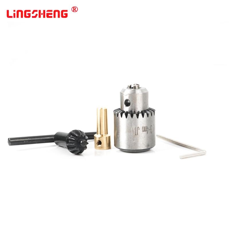 Hot Electric Drill Grinding Mini Drill Chuck Key Keyless Drill Chucks 0.3-4mm Capacity Range W/ 3.17mm Shaft Connecting Rod