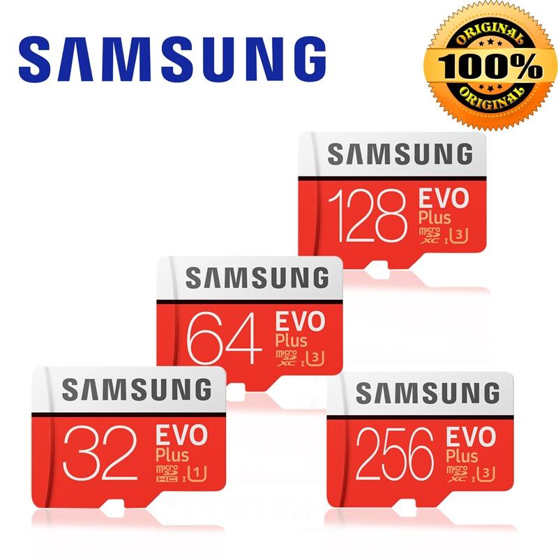 Novo produto Original SAMSUNG EVO + Cartões de Memória gb EVO 64 plus Class10 U3 128 gb 256 gb Micro SD UHS-I 32 gb microSD cartão Tf