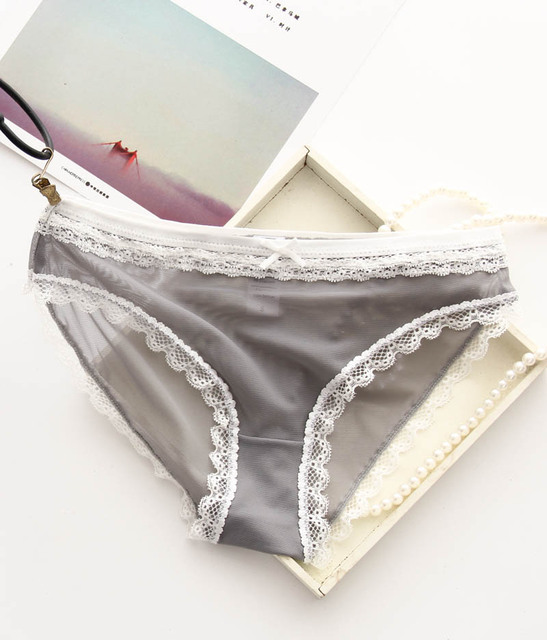 50 Pcs/Lot S-2XL Female transparent triangle underwear large size Lace Briefs Girl Low-rise Panty Soft Wear For Large Women C05