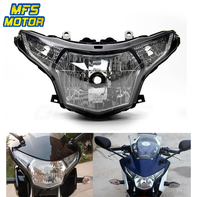 For 08 13 Honda CBR250RR CBR 250RR Motorcycle Front Headlight Head Light Lamp Headlamp Assembly 2008 2009 2013