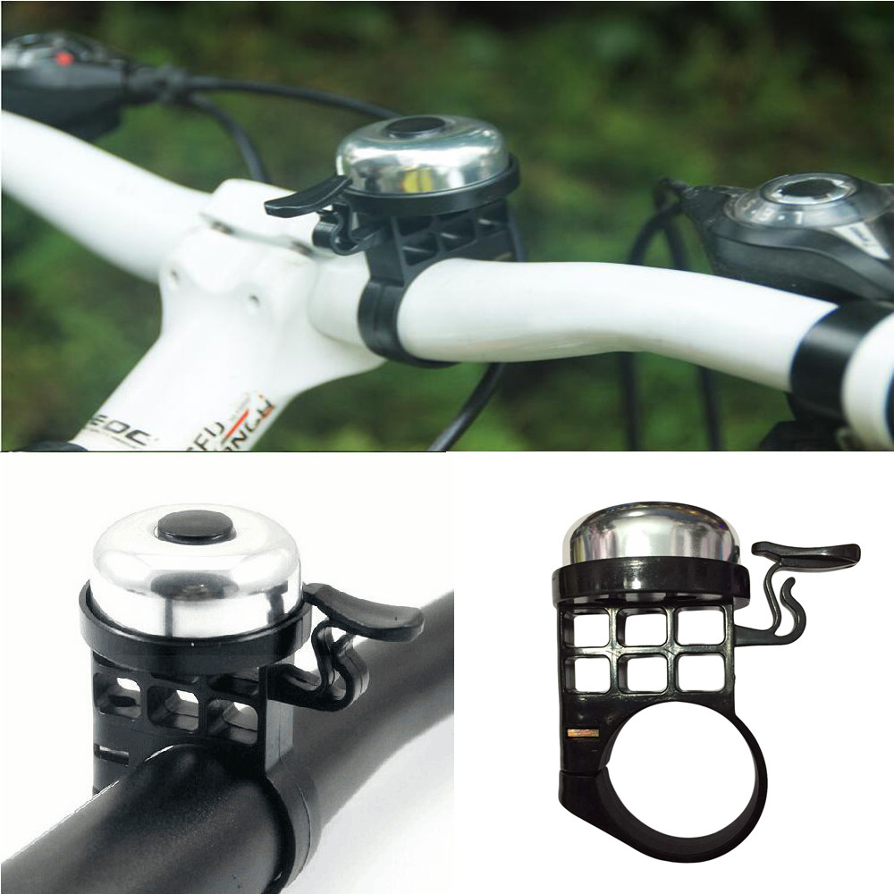 Bicycle Handlebar Metal Ring Black Bike Bell Horn Sound Alarm For Safety Cycling