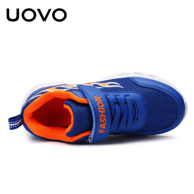 ce015304a UOVO 2019 Kids Running Shoes For Boys Fashion Breathable Sport Sneakers  Boys School Shoes Spring Big Children Shoes Size 30# 40#-in Sneakers from  Mother ...