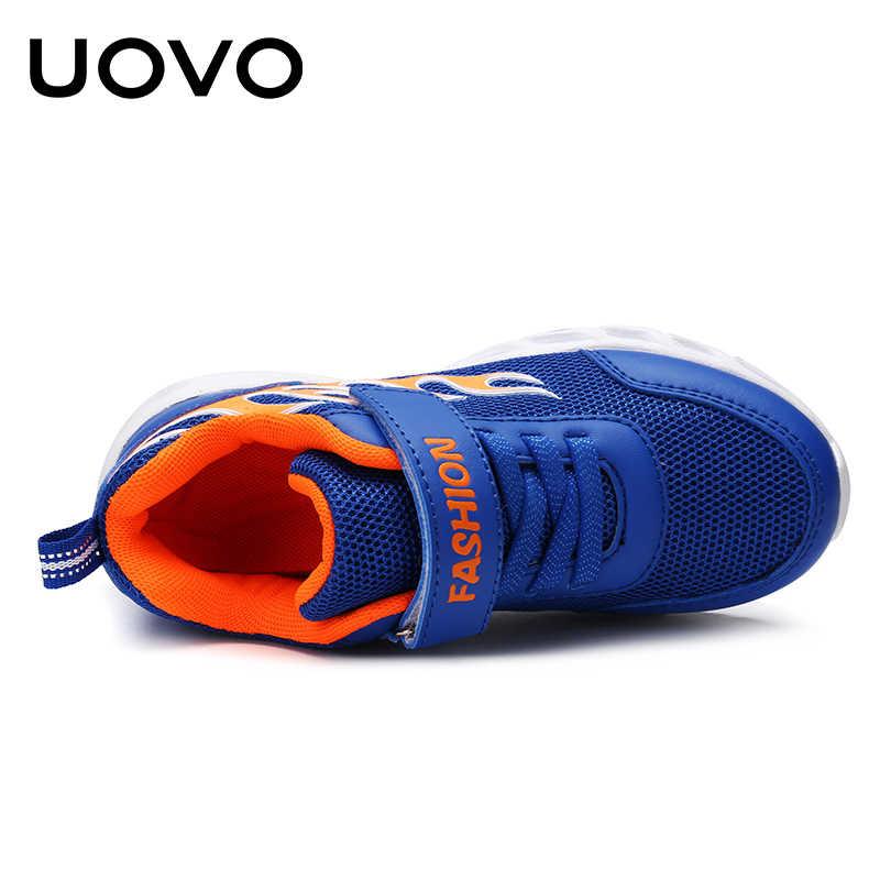 UOVO/2019 детские кроссовки для бега для мальчиков, Модные дышащие спортивные кроссовки, школьная обувь для мальчиков, весенняя обувь для больших детей, размер 30 #-40 #