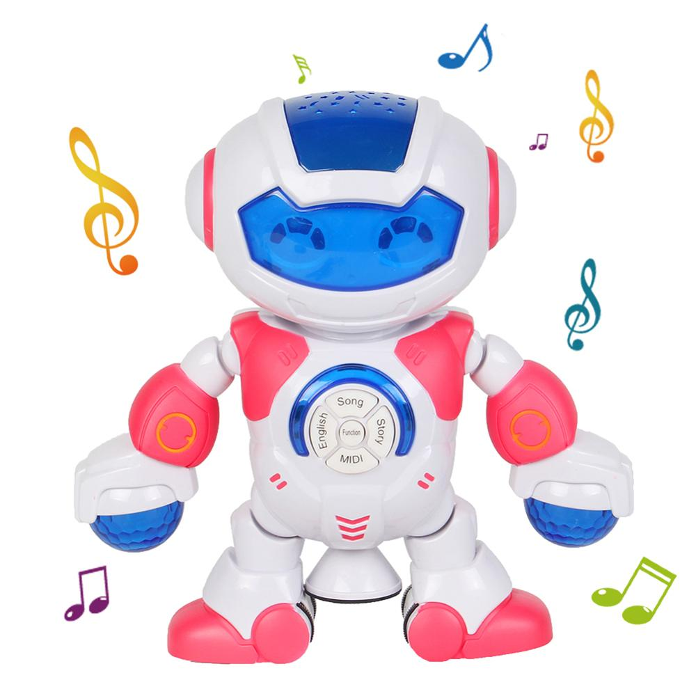 Electric Dancing Robot 360 Degree Rotable Music Projector Kids Education Toy