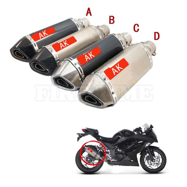 Motocicleta mufflerfor kawasaki z-250 z800 z1000 zx-12r z-250 acessórios da motocicleta tubo de escape tubo de escapamento de moto tubo 51mm