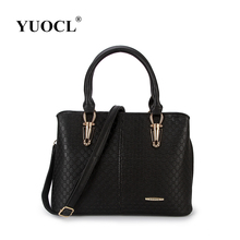 Yuocl 2017 bolso de la mujer diseñadores de moda-bolso informal bolsas femininas marca famosa bolsa de mano de cuero bolso de la señora bolsos bolsa de hombro