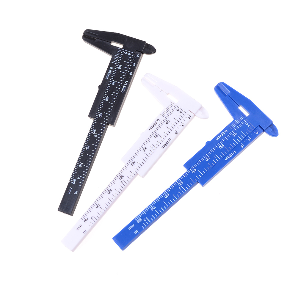 80mm Mini Plastic Student Sliding Vernier Caliper Gauge Measurement Tool Wholesale