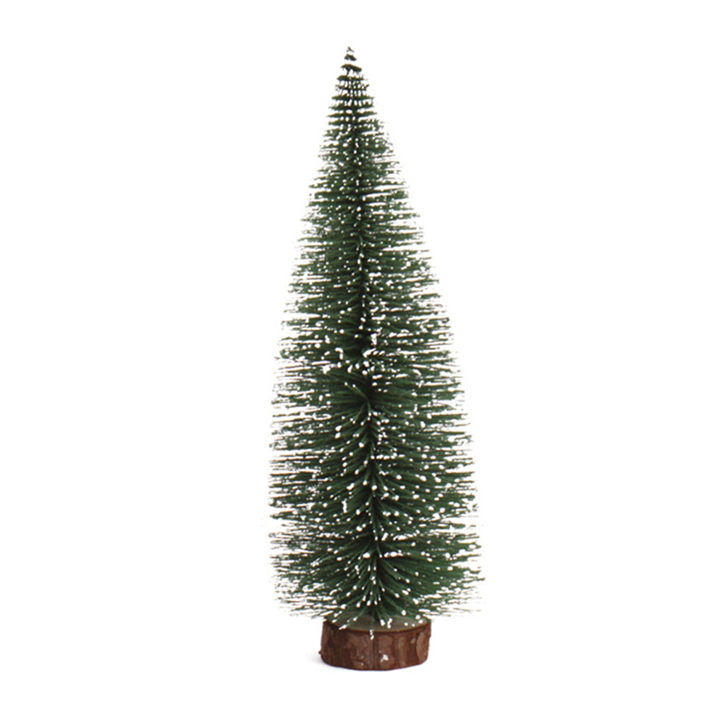 2019 Artificial Tabletop Mini Pine Christmas Trees Decorations Festival Plastic Miniature Trees
