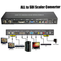 2PCS DHL Fast Shipping ALL To SDI Scaler Converter Composite CVBS VGA DVI HDMI Signals To