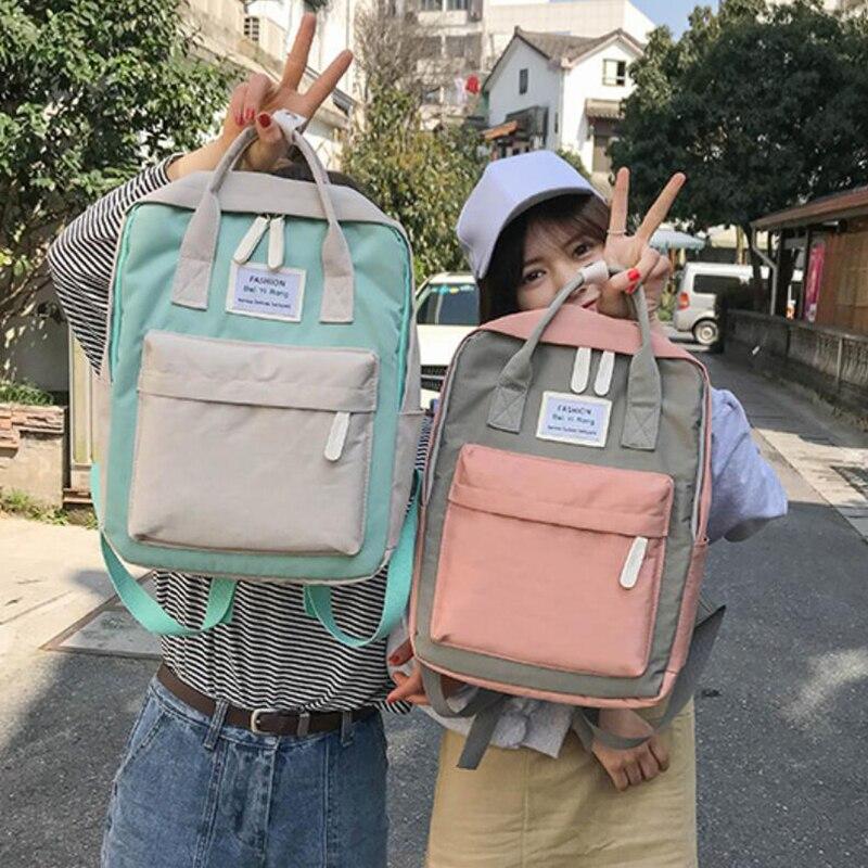 HTB1 eUMviAnBKNjSZFvq6yTKXXaF Yogodlns Campus Women Backpack School Bag for Teenagers College Canvas Female Bagpack 15inch Laptop Back Packs Bolsas Mochila
