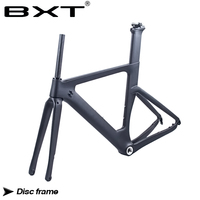 BXT New Disc brakes Carbon Road Bike Frame carbon fibre road cycling 142mm*12mm race bicycle frameset Free shipping