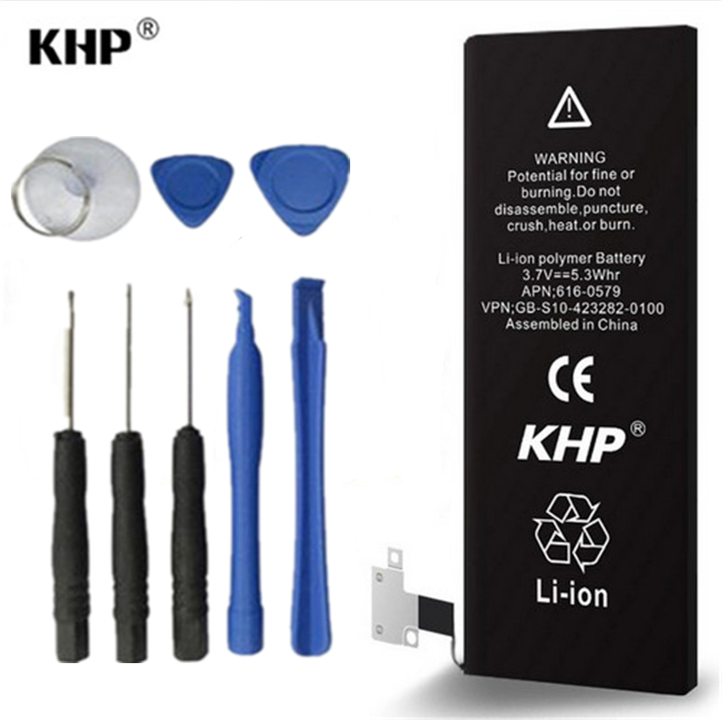 2016 100 Original Brand KHP Mobile Phone Battery Batteries For iphone 4S Real Capacity 1430mAh With