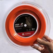 1 Reel ALPHA Bamboo grain Tennis Racket String Polyester Tennis Training Power spin String 1.25mm