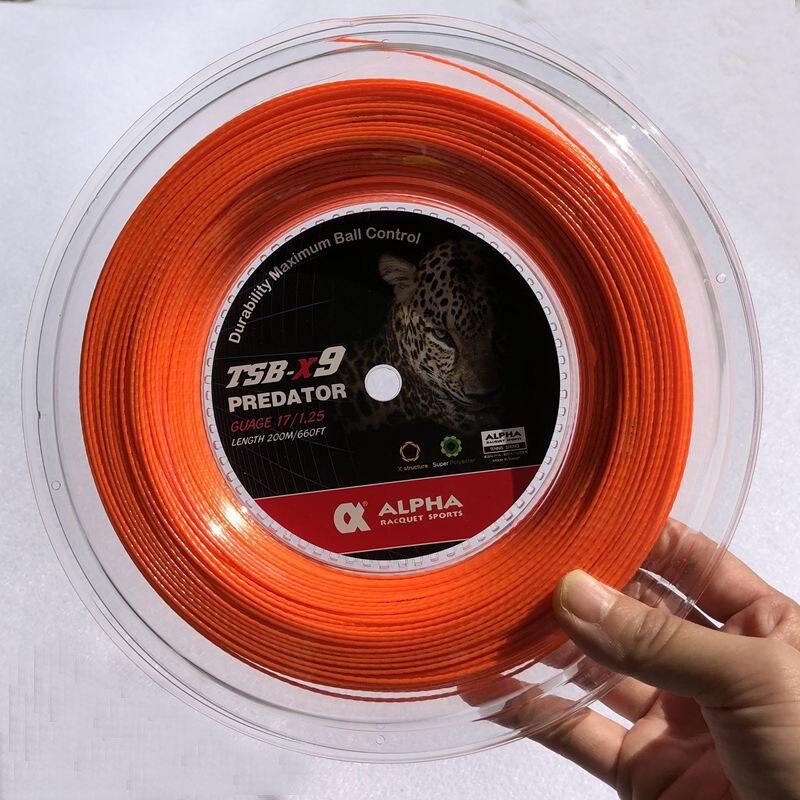 1 bobine ALPHA Bambou grain De Tennis Raquette Chaîne Polyester Tennis De Formation Puissance spin Chaîne 1.25mm
