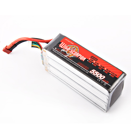 1pcs wild scorpion 100% new Brand RC 22.2V 5500mAh 35C Li-polymer Battery For RC Quadcopter Drone Helicopter Car Airplane wild scorpion 11 1v 5500mah 35c rc car helicopter model plane lipo battery free shipping