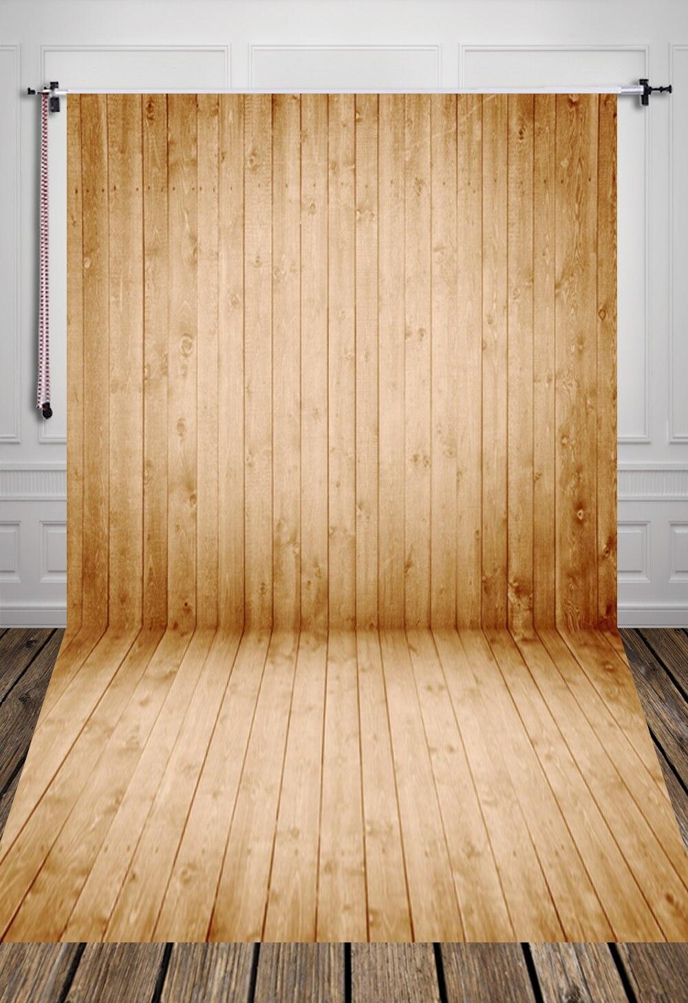 Impression Photo Planche Bois 5x7ft (1.5x2.2 m) planche de bois de pin propre impression