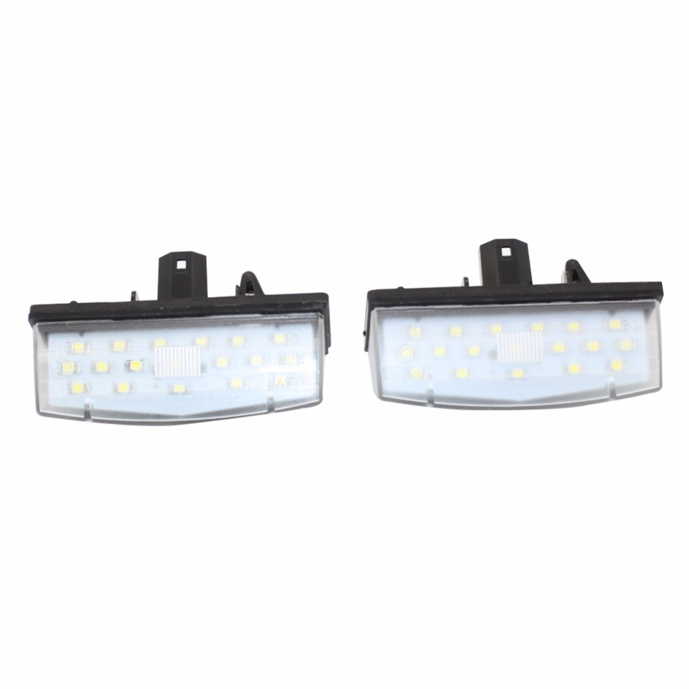 Number License Plate Light For Toyota Prius ZVW 30 2009-2015 2016 18 LED Error Free Lamp Car Bulbs Auto Lamps special car trunk mats for toyota all models corolla camry rav4 auris prius yalis avensis 2014 accessories car styling auto