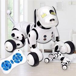 Новые электронные игрушки для домашних животных, радиоуправляемые роботы-собаки с подставкой, милые интерактивные умные игрушки-роботы дл...