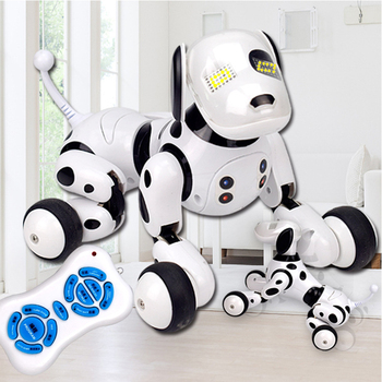 New Electronic Pets RC Robot Dogs Stand Walk Cute Interactive Intelligent Dog Robot Toy Smart Wireless Electric Toys For Kids lnteractive smart robot dog child toy smart light dancing robot dog toy electronic pet child birthday gift toys for children