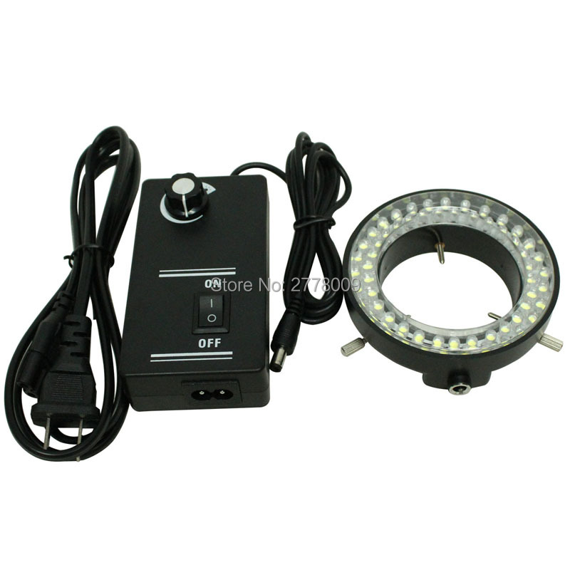 Free shipping!!! 60 LED Adjustable Ring Light illuminator Lamp For Industry Microscope Industrial Camera Magnifier