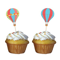 BOSHENG Lot Of 144 Cute Cartoon Baby Shower Snack Cocktail Food Picks Cupcake Toppers Balloon Designed