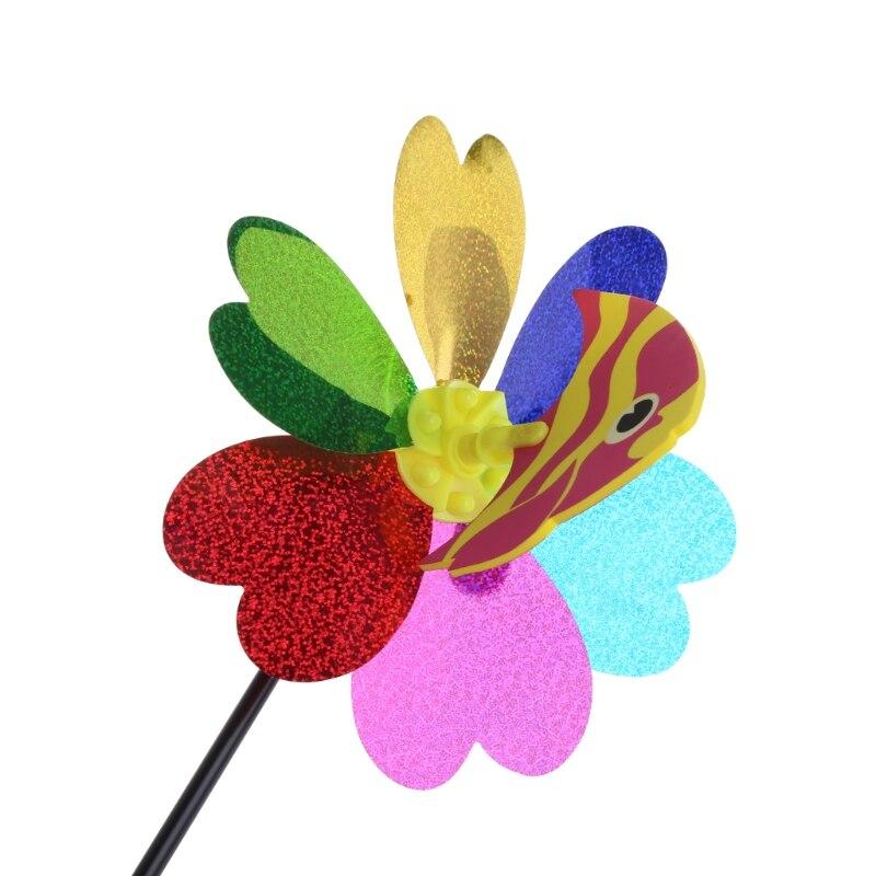 Cartoon Animal Colorful Sequins Windmill Wind Spinner Home Garden Yard Decor