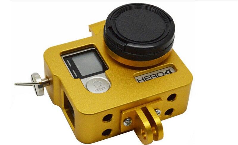CNC Go pro Aluminum Multi-purpose Extension Protective Case with Screws Lens Cap for GoPro Hero 4/3+/3 Camera Accessories  GP255