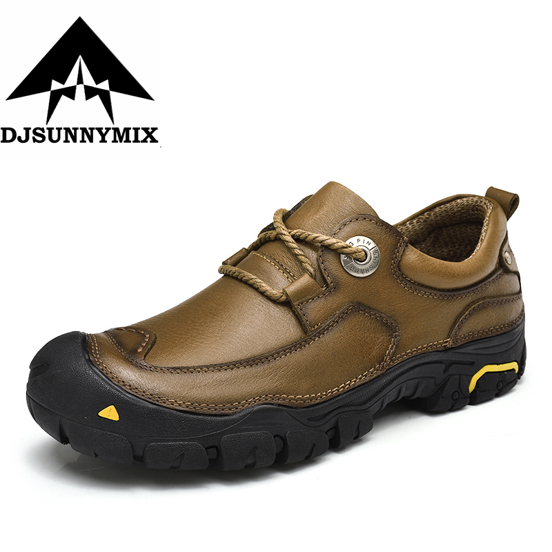 DJSUNNYMIX Genuine Leather Men Shoes Lace-up Casual Shoes For Men Cow Leather Fashion Men Loafers for Men Flats moccasins hombre genuine leather baby shoes lace up toddler baby moccasins mixed colors boys shoes first walkers free shipping