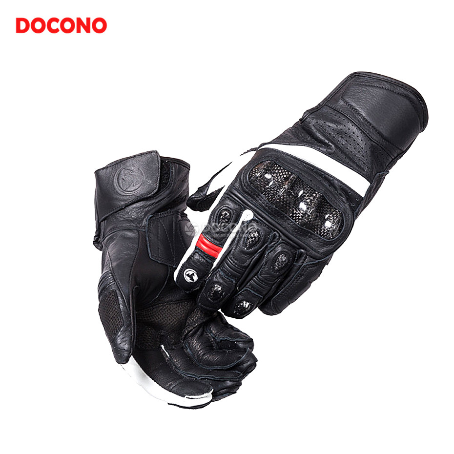 DOCONO Motorcycle leather gloves Male riding Knights gloves protection For yamaha yzf r3 r6 mt07 mt09 tmax 500 530 yb 125 fz8 аккумулятор yoobao yb 6014 10400mah green