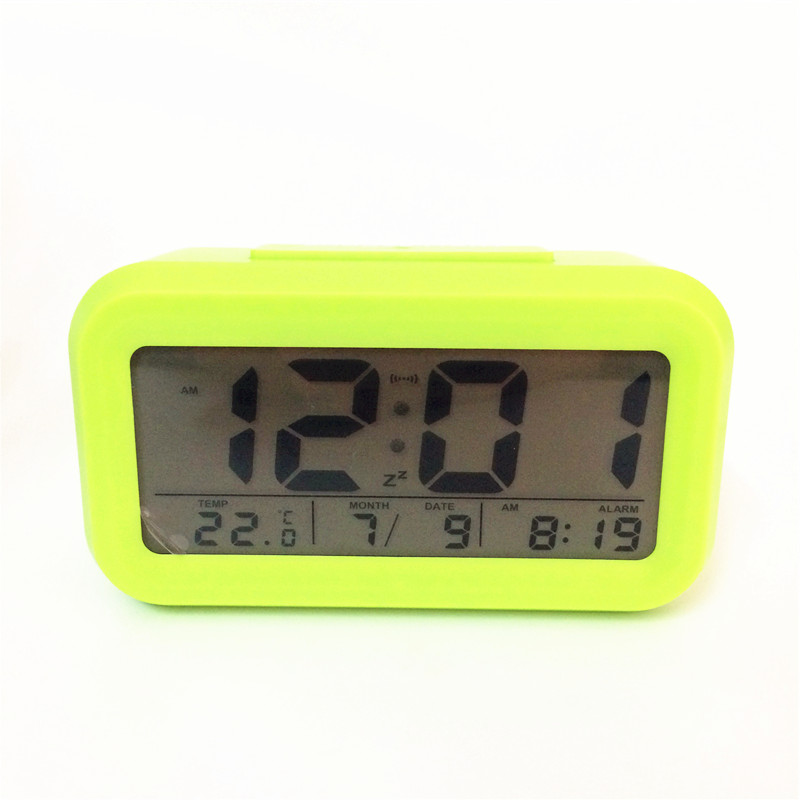 High quality! Led snooze alarm clocks temperature with calendar timer backlight LED display digital clock 3019agreen-Clock