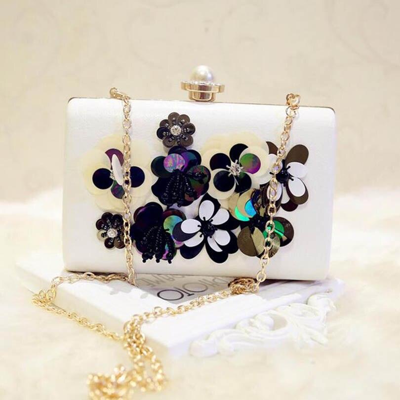 2017 high quality handmade flower evening clutch bags fashion Women Party Clutches Purse Wallet Wedding dinner Crossbody bags