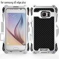 Para samsung galaxy s6 edge plus r-apenas amira robusto à prova de choque armadura de metal de alumínio de fibra de carbono caixa do telefone para samsung s6 borda +