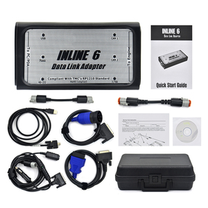 Image 4 - Free Ship INLINE 6 Data Link Adapter Heavy Duty Diagnostic Tool Scanner Full 8 cable Truck interface inline6 inline 5 2018
