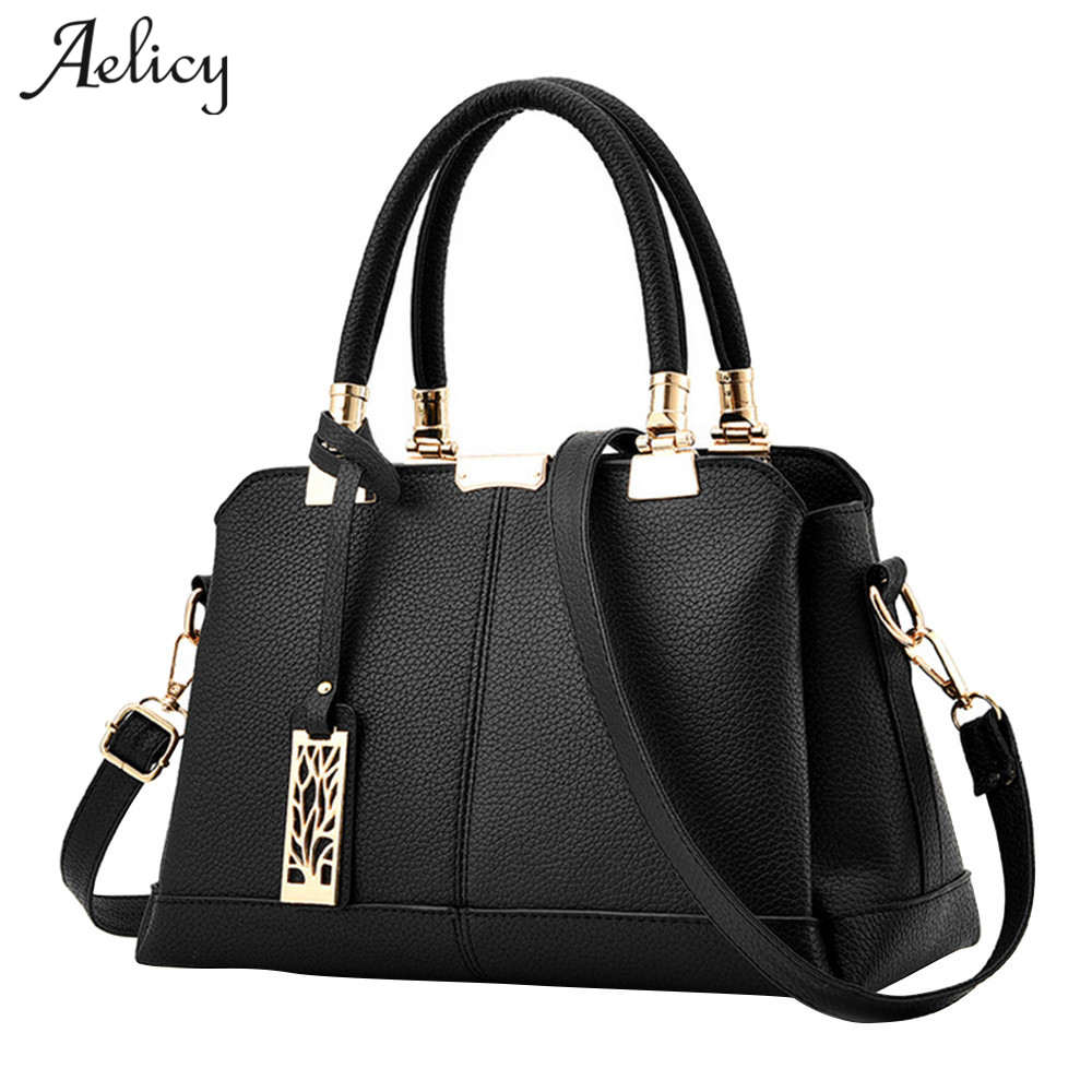 Aelicy Bag Women Pu Leather Tote Brand
