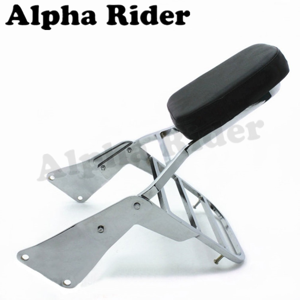 Rear Luggage Rack Saddlebag Support Tail Box Holder Cargo Shelf Bracket w/ Backrest Sissy Bar for Kawasaki VN Vulcan 1500 VN1500