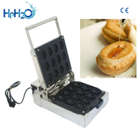 New design Commercial Coffee Bean Shaped Waffle Maker Iron Machine Non stick12pcs Electric Coffee Bean Shape Waffle machine
