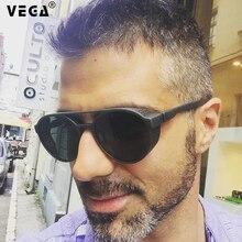 VEGA Eyewear Vintage Steampunk Glasses Men/Women Round Steampunk Sunglasses with